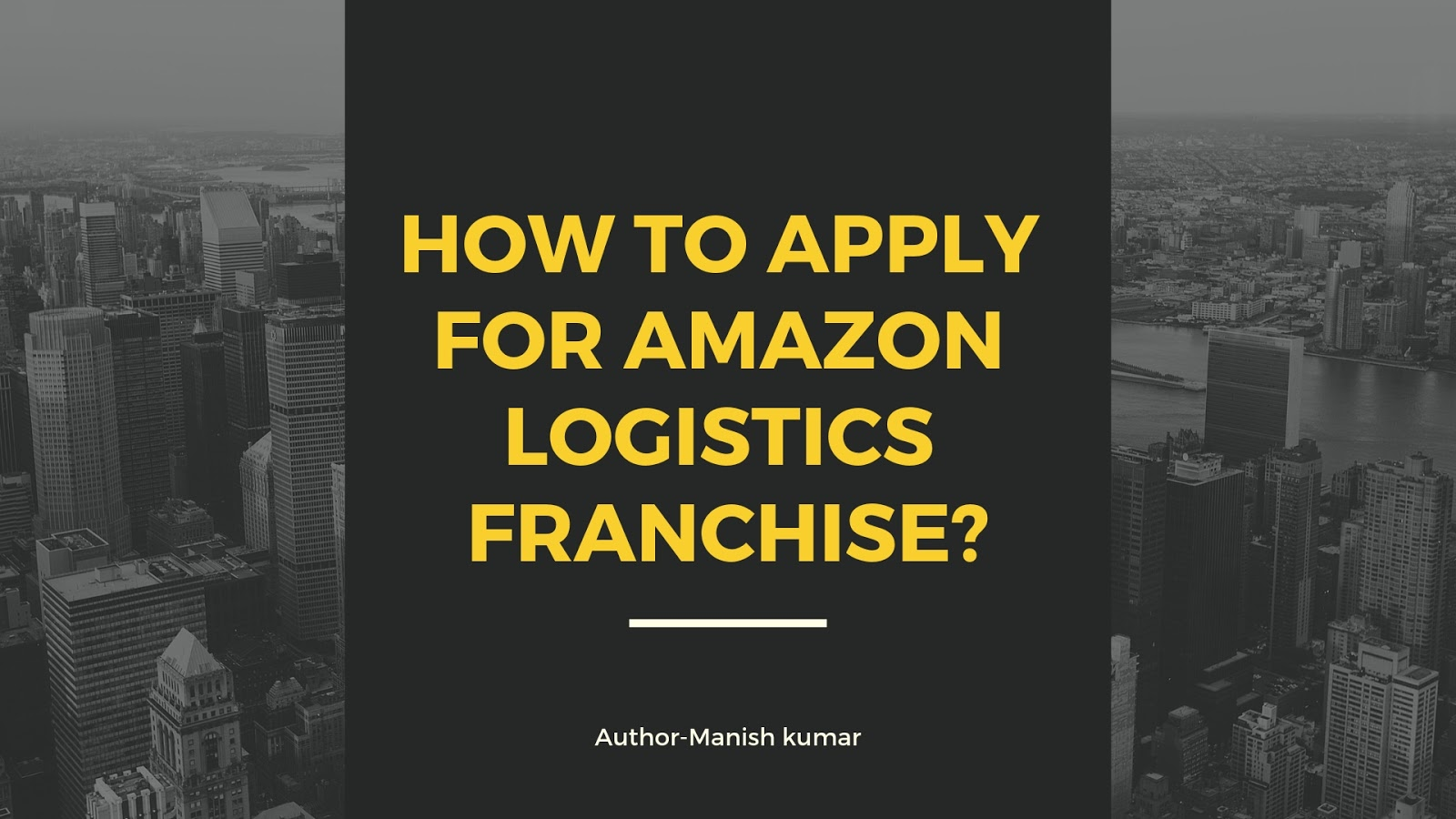 Apply For Amazon Logistics Franchise