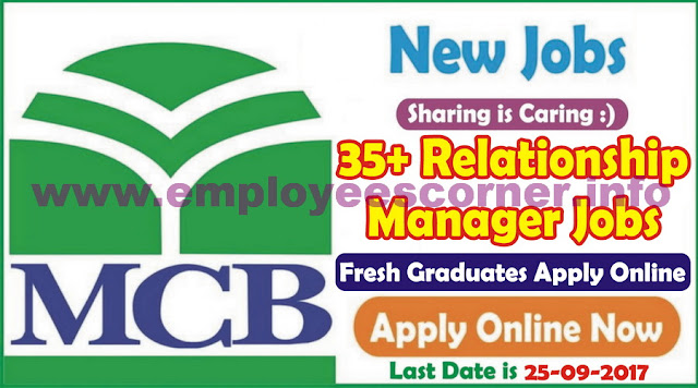 Relationship Manager Jobs in MCB Bank