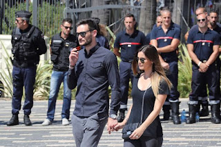 , Nice Update: France and Tottenham goalkeeper Hugo Lloris and wife Marine arrive on the Promenade des Anglais for the minute's of silence, Latest Nigeria News, Daily Devotionals & Celebrity Gossips - Chidispalace
