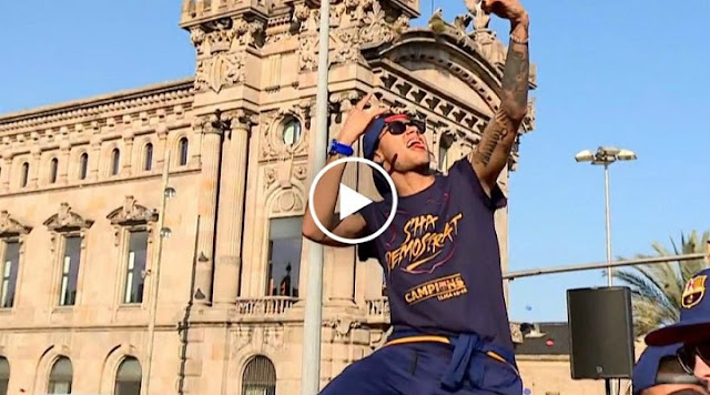 VIDEO. Neymar célèbre le titre a sa façon, il se lâche complètement