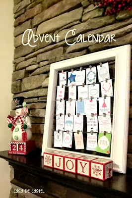 advent calendar picture frame