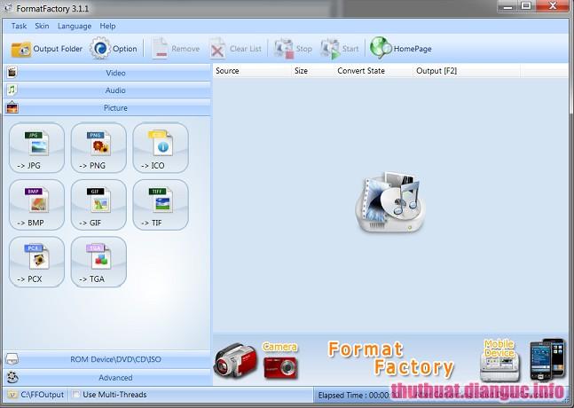 Download Format Factory 4.1.0.0 Full Free - Phần mềm chuyển đổi video