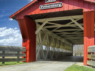 Pottersburg Covered Bridge in Chuckery, Union County, Ohio