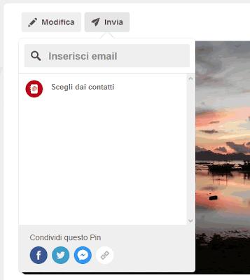Come condividere una foto di Pinterest