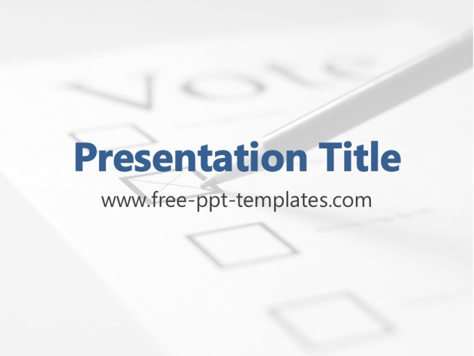 Voting Powerpoint Templates