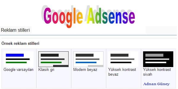 Adsense Reklam Biçimleri