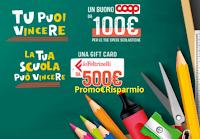 Logo Henkel  ''3,2,1...scuola'': vinci buoni spesa da 100€ e Gift La Feltrinelli