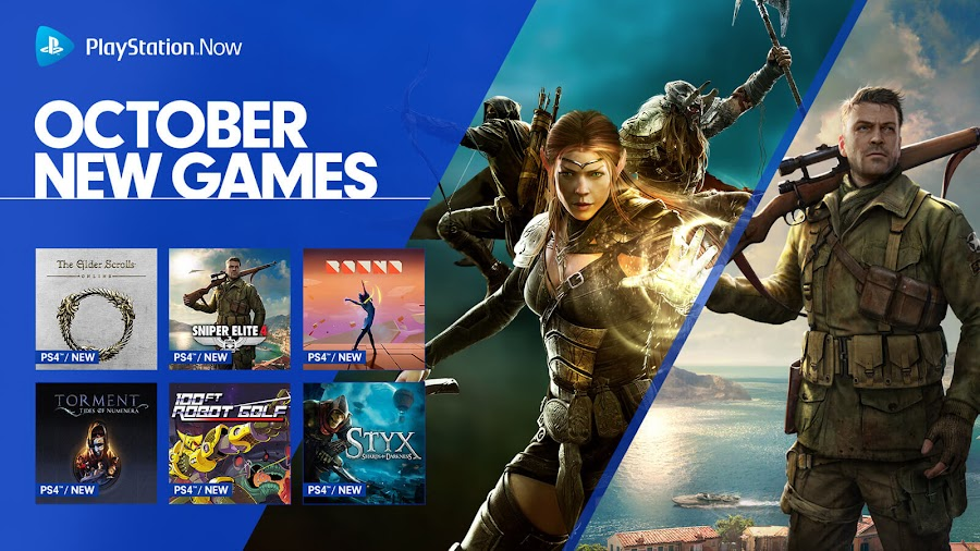 sony playstation now elder scrolls online sniper elite 4
