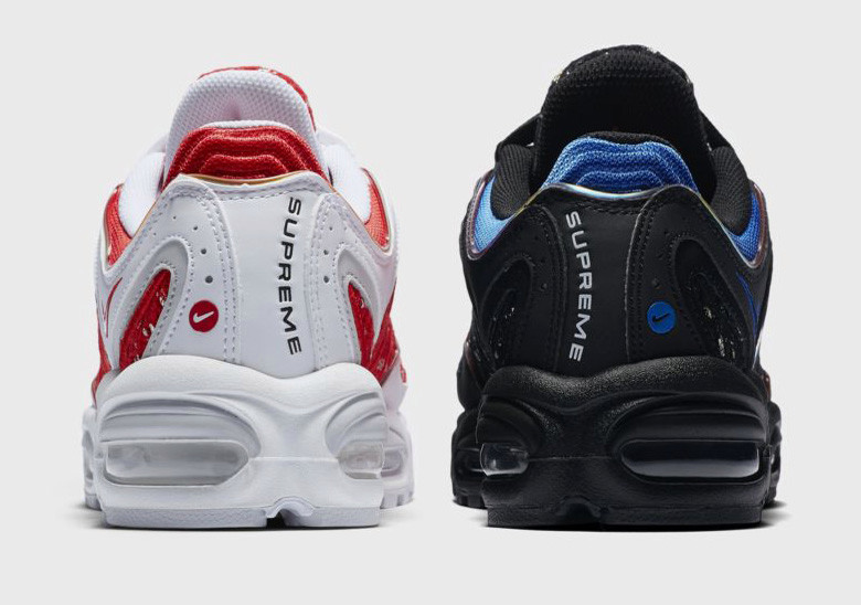 best service 0b0ea 6d269 With Supreme s SS19 season now in full swing, official images of their  highly anticipated Nike Air Max Tailwind IV in two colorways have surfaced.