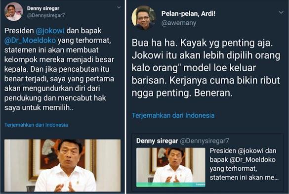 Denny Siregar Ancam Tak Pilih Jokowi Jika Status Tersangka HRS Dicabut, Warganet Ngakak