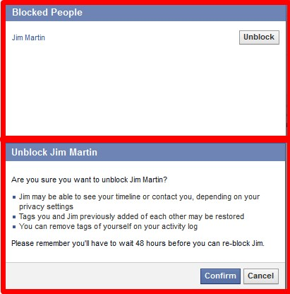 unblock someone facebook