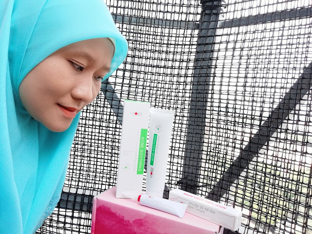 SWISSVITA ACNE SOLUTION SOOTHING CLEANSER CREAM UNTUK JERAWAT DAN 3D MICRITE ALL USE EYE CREAM UNTUK KURANGKAN WRINKLE DI MATA