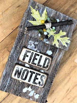 Sara Emily Barker http://sarascloset1.blogspot.com/ Field Notes Mini Album 3D Texture Fade Lumber 18