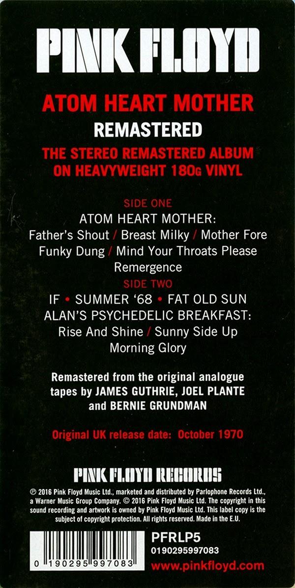 Pink Floyd Ilustrado Atom Heart Mother L P Vinyl E U 2016