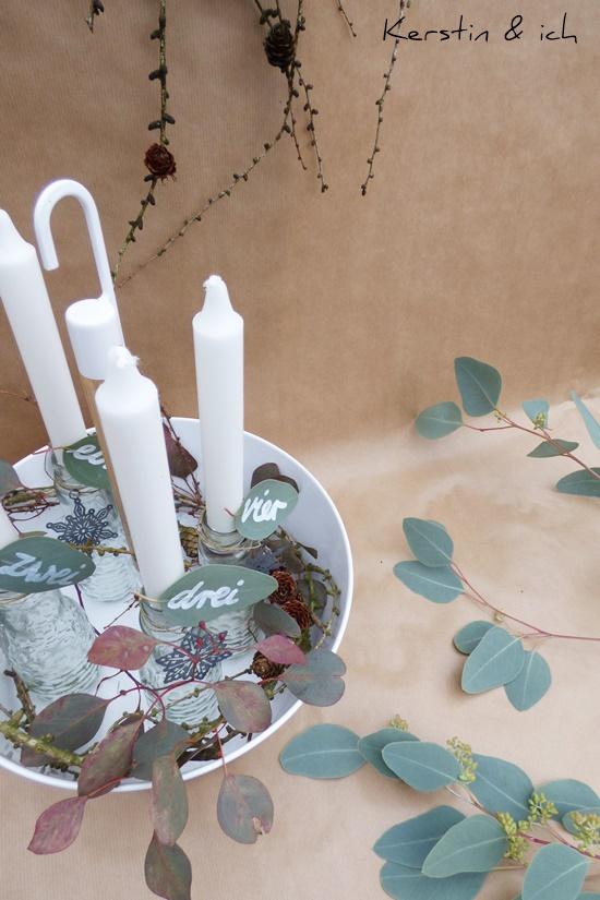 DIY Eukalyptus Weihnachten Kranz