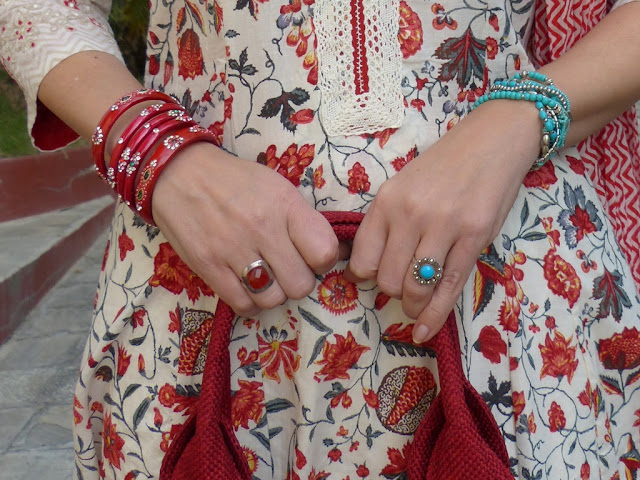 Bracelets, bangles and semi-precious stone rings