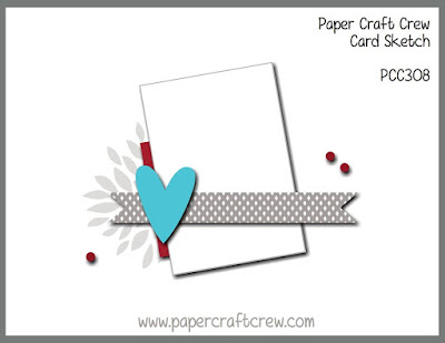 Paper Craft Crew Card Sketch Challenge #PCC308 from Mitosu Crafts UK