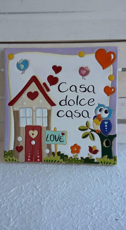 Ceramica come mestiere targa fuoriporta casa dolce casa for Ceramica in casa