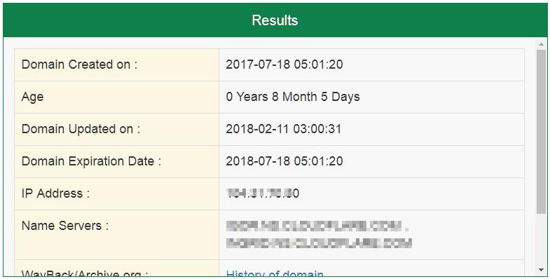 small seo tool domain age checker