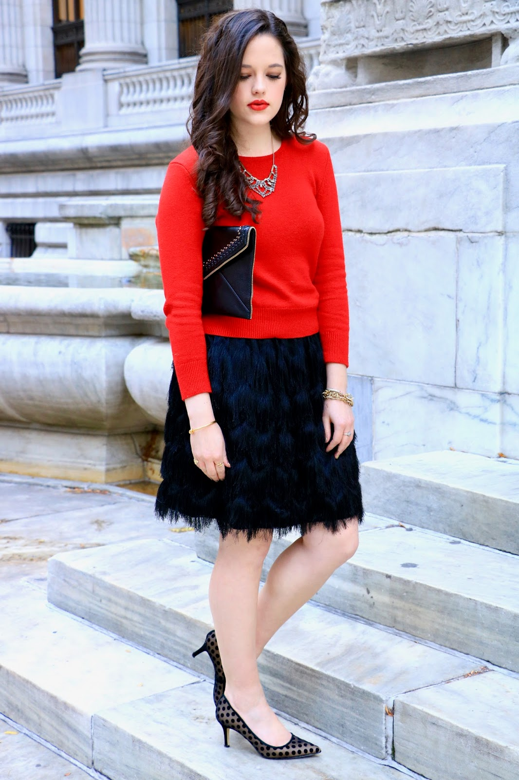 holiday outfit fashion blogger pics
