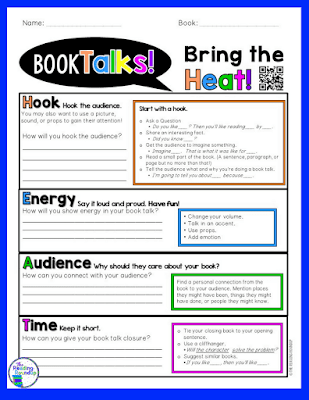 The Reading Roundup - Bring the HEAT to your Book Talks graphic organizer