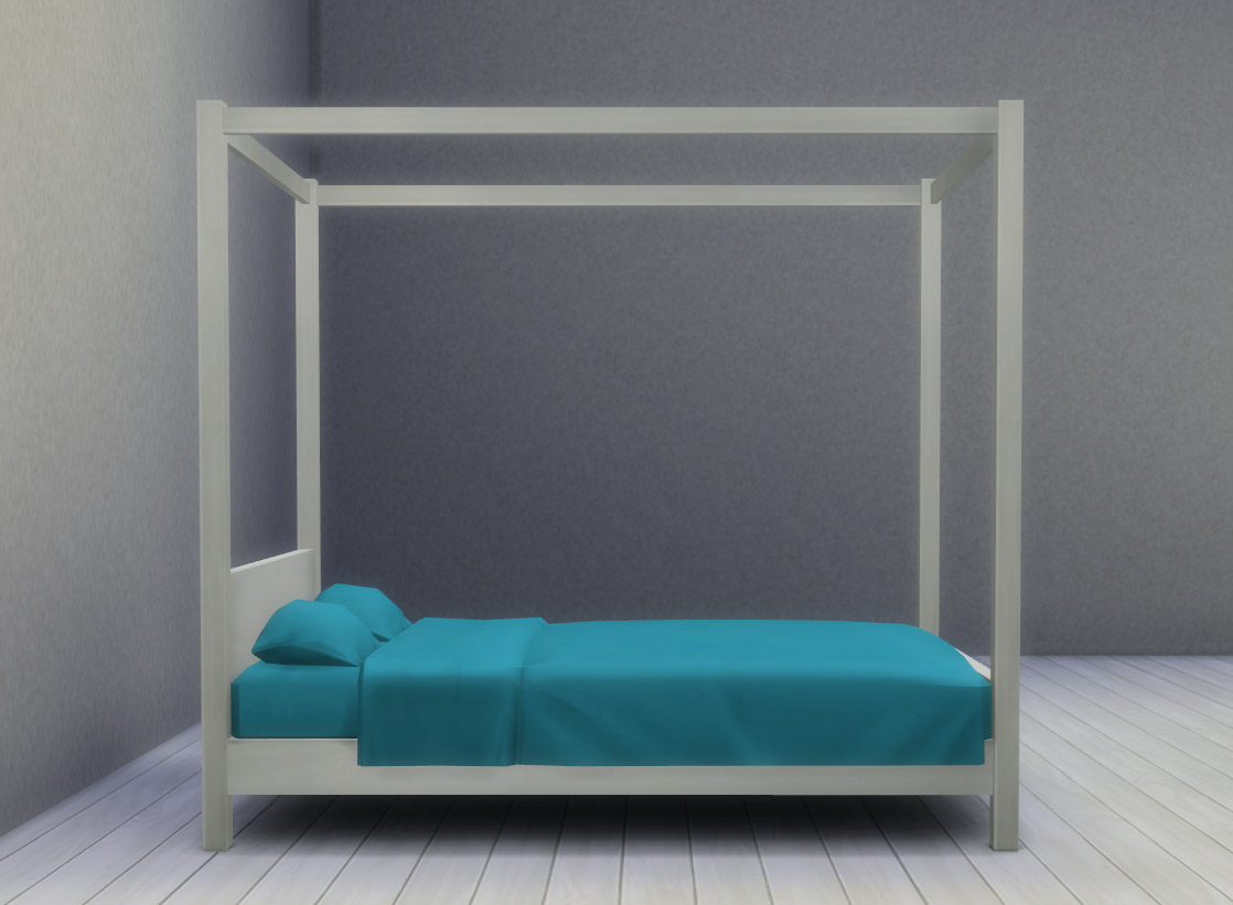 My Sims 4 Blog Modern Four Poster Double Bed By Ignorantbliss