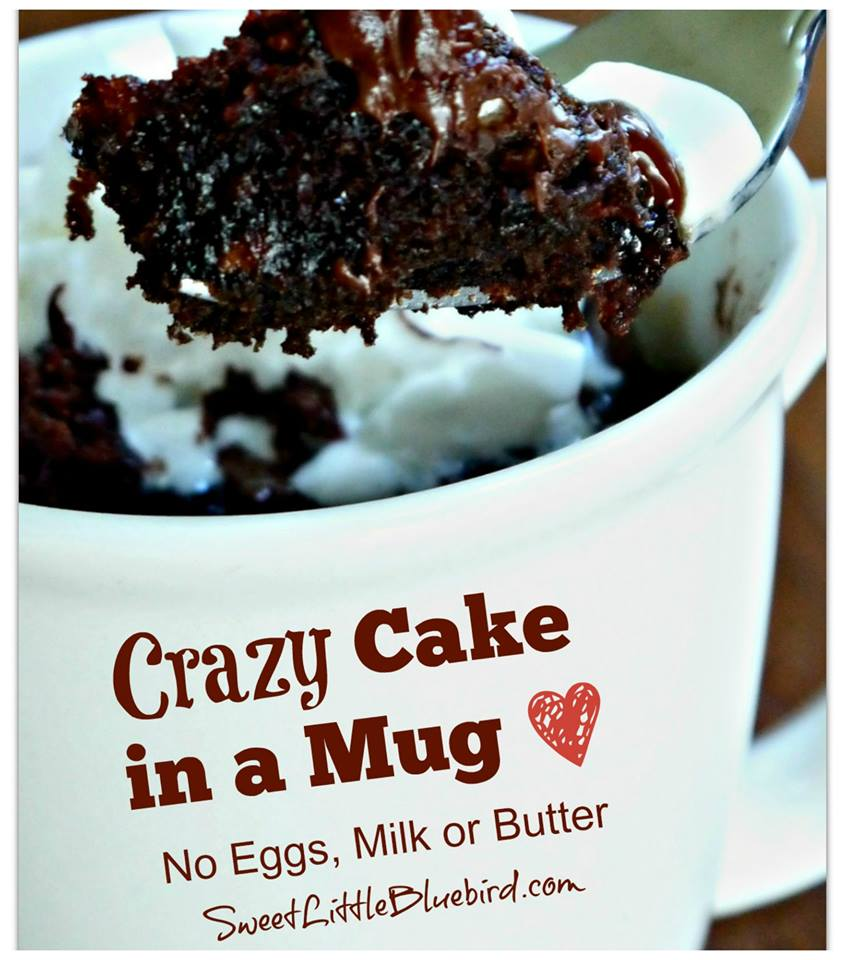 Crazy Cake In A Mug No Eggs Milk Or Er Ready Minutes Sweet Little Bluebird