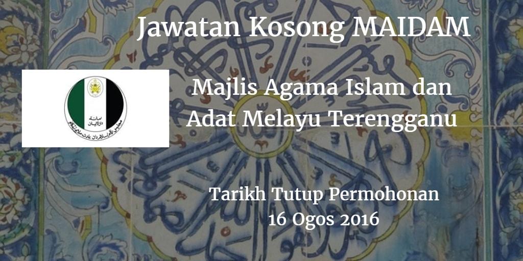 Jawatan Kosong MAIDAM 16 Ogos 2016