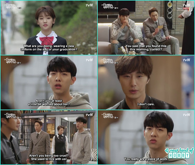 yoon sang and seo woo worried for Ha Won she left sky house - Cinderella and Four Knights - Episode 7 Review - I Love Her, I Love Her Not