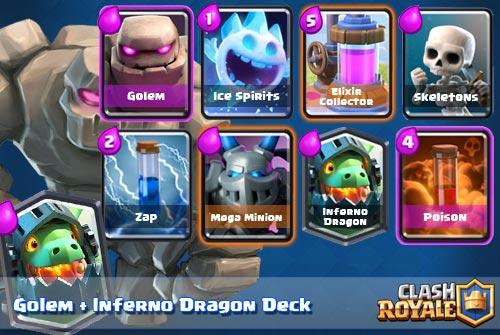 Deck Golem Inferno Dragon Arena 7 Clash Royale