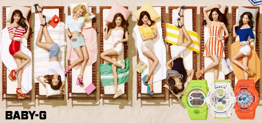 SNSD Overload: SNSD Casio Baby-G 20th Anniversary for CeCi March 2014