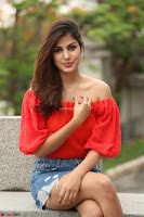 Rhea Chakraborty in Red Crop Top and Denim Shorts Spicy Pics ~  Exclusive 011.JPG