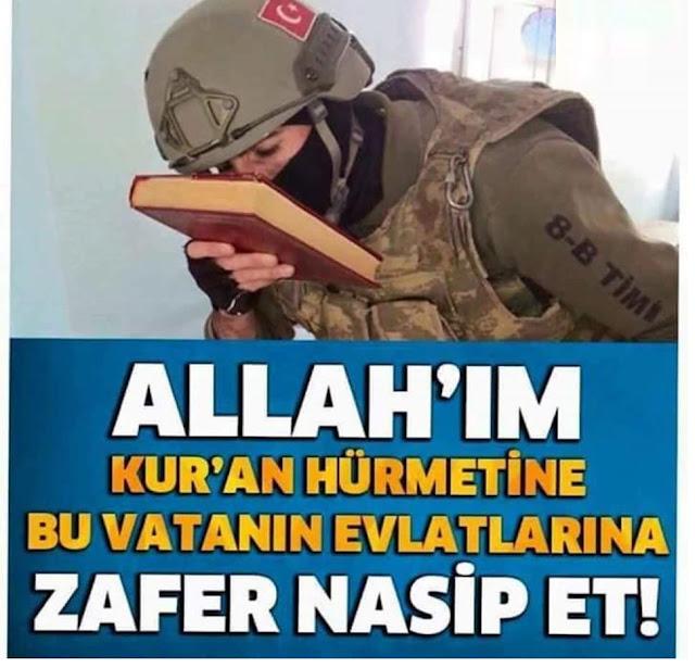 dua, asker, askrere dua, Kur'an, ayyıldız, bayrak, türk, savaşçı, vatan, zafer, bayrak aşkı