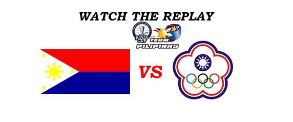 List of Replay Videos Philippines vs Chinese Taipei White 38th Jones Cup 2016