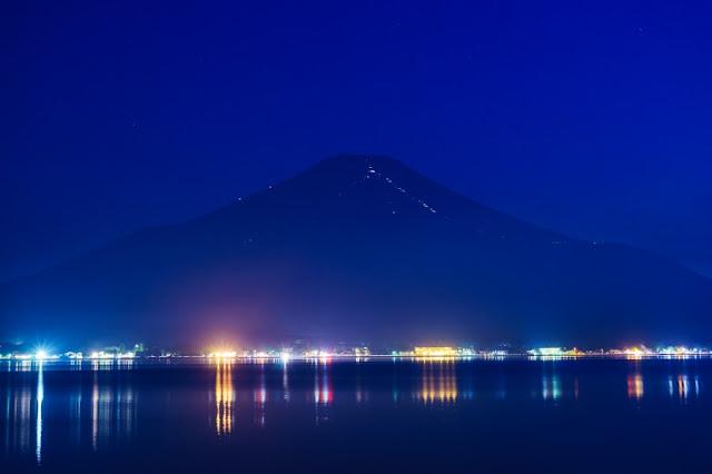 富士山・夜景~山中湖長池親水公園