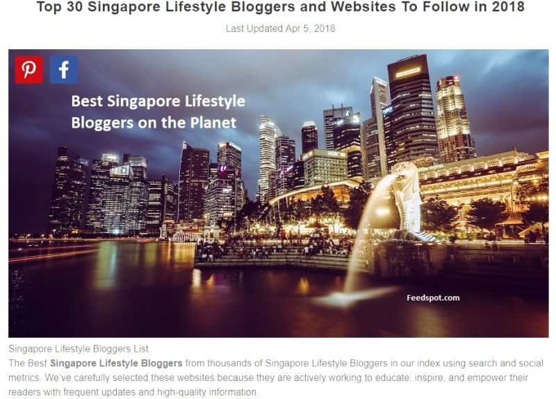 singapore top lifestyle bloggers to follow