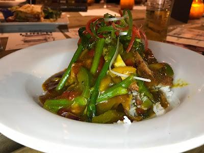 a plate of katsu curry
