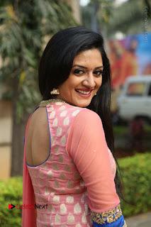 Actress Vimala Raman Stills in Beautiful Pink Salwar Kameez at (ONV) Om Namo Venkatesaya Press Meet  0197.JPG