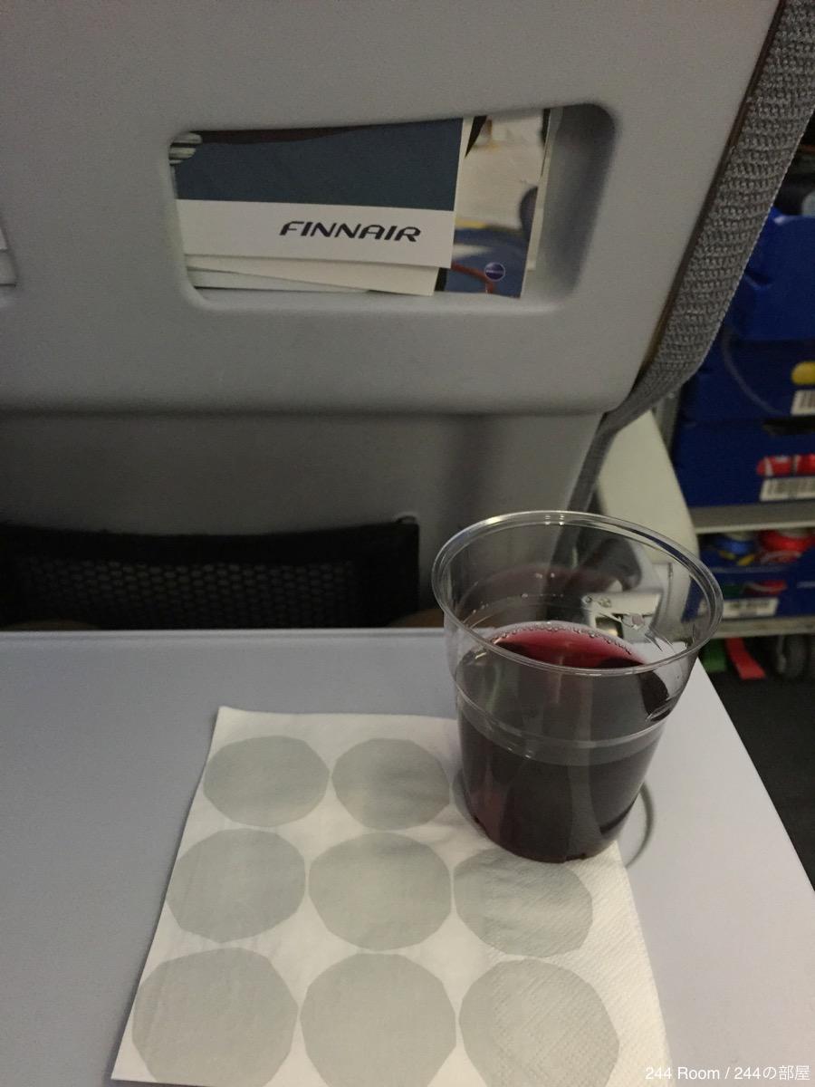 Finnair-blueberry-juice ブルーベリージュース