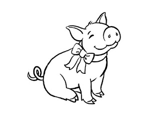 Cute Baby Pig Coloring Pages For Print