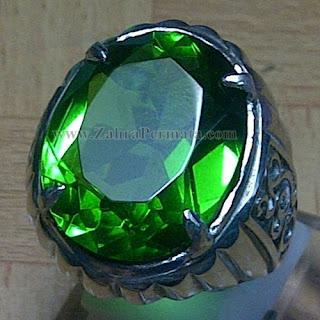Cincin Batu Permata Green Tektite - ZP 914