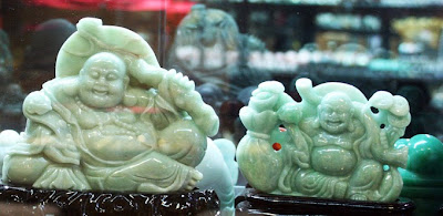 laughing green jade Buddha from a KL shop