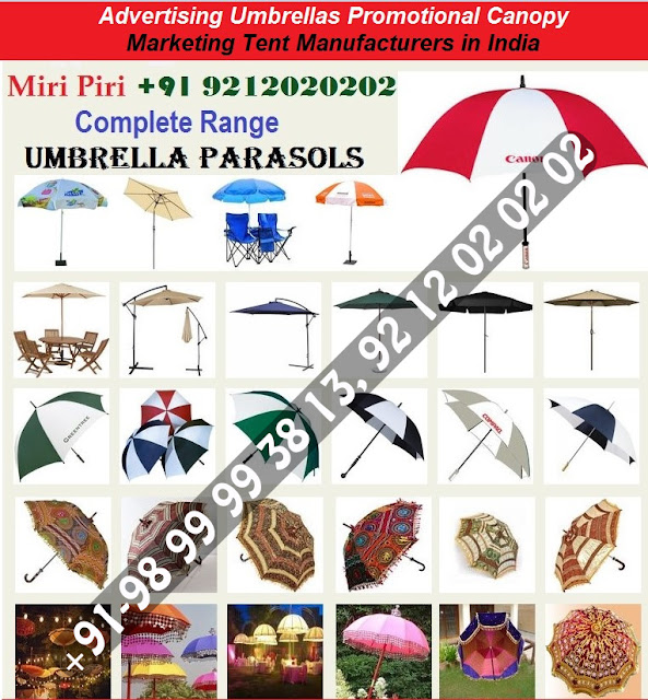 Promotional Printed Umbrellas Manufacturers, Manufacturers & Traders - Umbrellas, Side Pole Umbrellas, Outdoor Garden Umbrella, Heavy Duty Garden Umbrellas, Wooden Umbrellas,