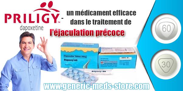 Priligy dapoxétine contre éjaculation précoce sur www.generic-meds-store.com