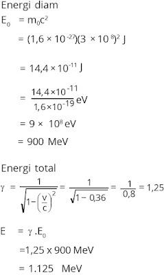 Pembahasan soal relativitas nomor 6