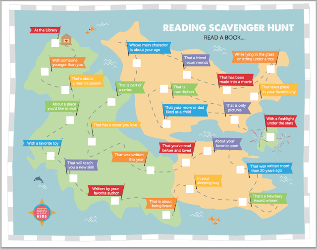 Reading Scavenger Hunt, Summer Reading, Reading Challenge