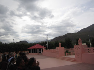 "Mountains on the ""L.O.C"" facing the ""Kargil War Memorial""."