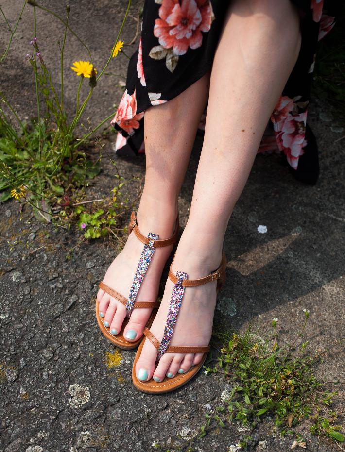 Hampton Bays glitter sandals