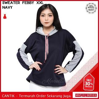 MNF131J106 Jaket Febby Wanita Jumbo Xxl Sweater terbaru 2019 BMGShop