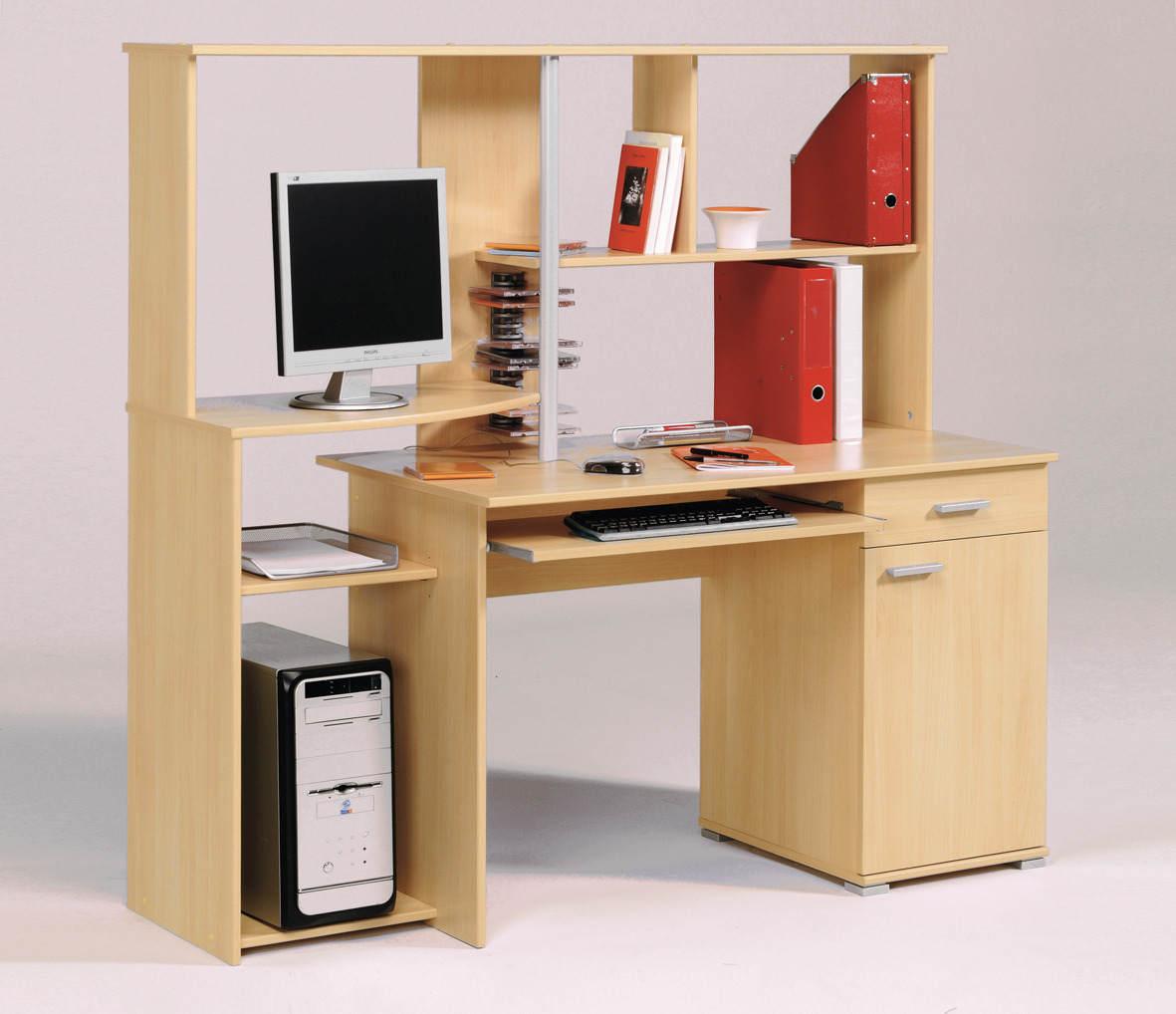 Contoh Desain Meja Komputer Dan Laptop Minimalis Gambar